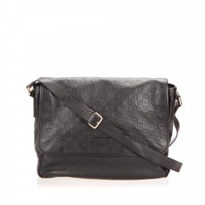 Gucci Guccissima Leather Messenger Bag