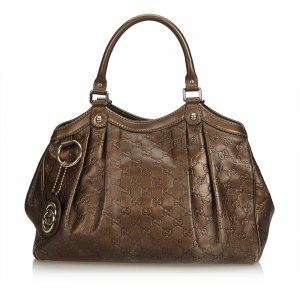 Gucci Bolsa Hobo color bronce Cuero