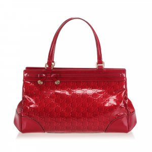Gucci Handbag red imitation leather