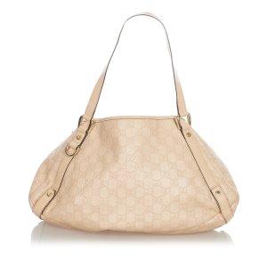 Gucci Sac fourre-tout beige cuir