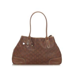 Gucci Sac fourre-tout brun cuir