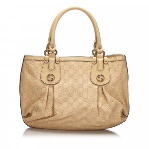 Gucci Sac à main beige cuir