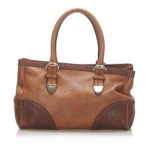 Gucci Bolso de compra marrón Cuero