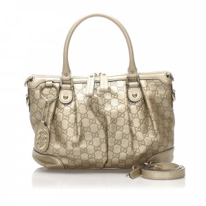 Gucci Satchel gold-colored leather