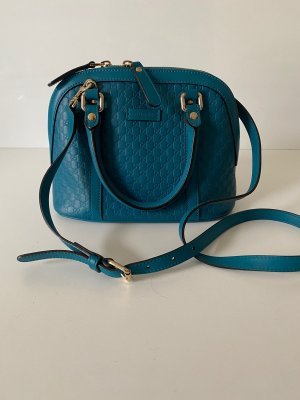 Gucci Carry Bag cadet blue leather