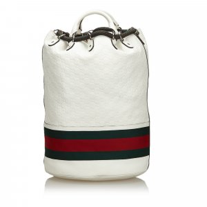 Gucci Backpack white leather