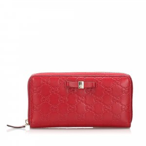 Gucci Guccissima Zip Around Long Wallet
