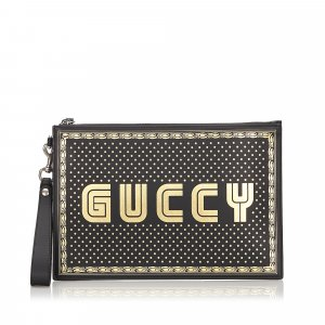 Gucci Guccy Moon and Stars Clutch Bag