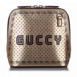 Gucci Guccy Sega Leather Satchel