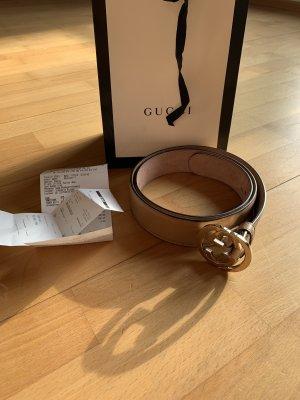 Gucci Ceinture en cuir beige