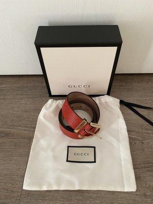 Gucci Gürtel 100% Original Belt Monogramm Gr. 80 Np 290€ goldene Schnalle mit Rechnung