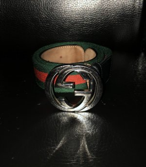 Gucci Ceinture en tissu rouge-vert