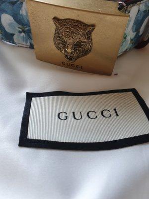 Gucci Lederen riem blauw