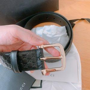 Gucci Leather Belt black leather