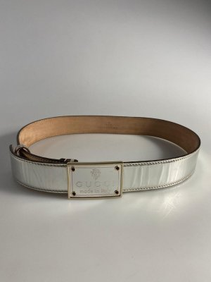 Gucci Leather Belt silver-colored