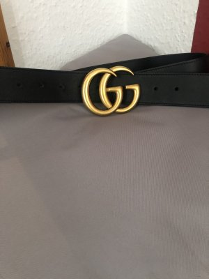 Gucci Leather Belt black-gold orange
