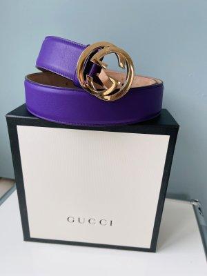 Gucci Ceinture en cuir violet