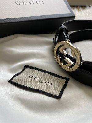 Gucci Pasek materiałowy czarny