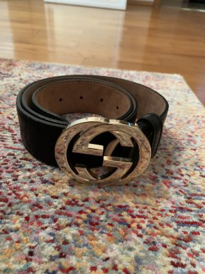 Gucci Cintura di pelle nero
