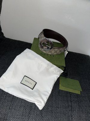 Gucci Cinturón pélvico color plata-beige