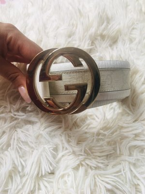 Gucci Leather Belt white-cream