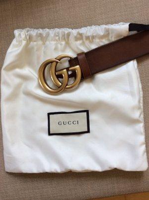Gucci Cintura di pelle bronzo Pelle