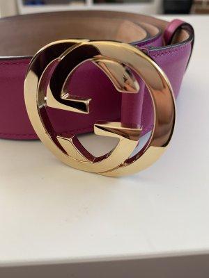 Gucci Cinturón de cuero violeta Cuero