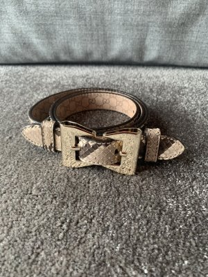Gucci Leather Belt grey brown-camel