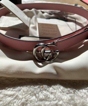 Gucci Gürtel mit GG Schnalle pastelrosa