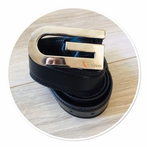 Gucci Cinturón de cuero marrón oscuro