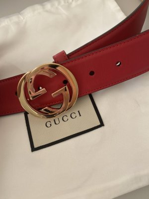 Gucci Leather Belt red