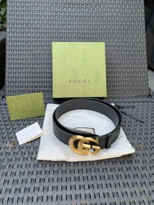 Gucci Ceinture de taille noir-doré cuir