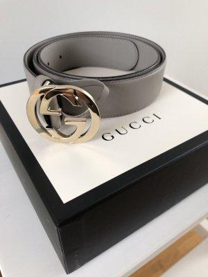 Gucci Cintura di pelle grigio chiaro