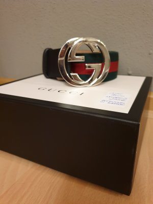 Gucci Fabric Belt red-green