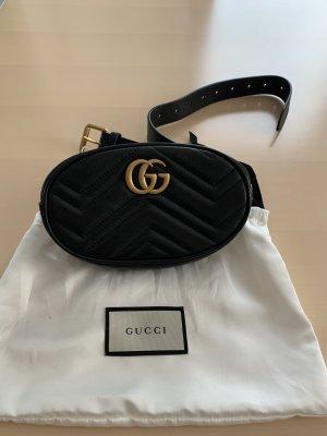 Gucci Gürteltasche Leder schwarz