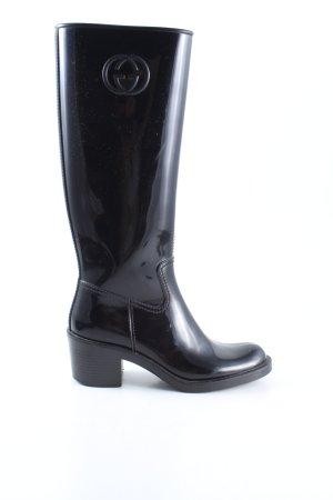 Gucci Botas de agua negro look casual
