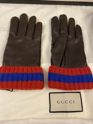 Gucci Leather Gloves brown