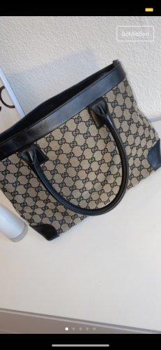Gucci Handtas zwart-grijs-bruin