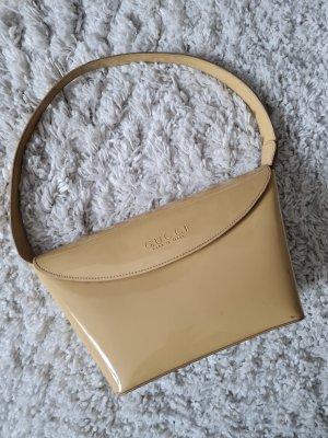 Gucci Handtasche Henkeltasche nude beige Lackleder 60er vintage Tasche Clutch Bag Top