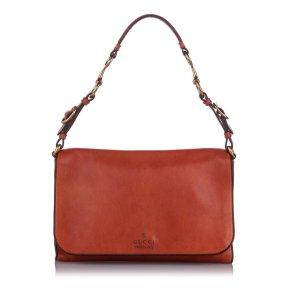 Gucci Harness Leather Shoulder Bag