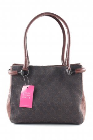 Gucci Henkeltasche braun Allover-Druck Casual-Look