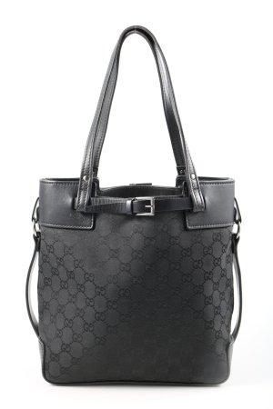 Gucci Borsa con manico nero-grigio chiaro motivo astratto stile casual