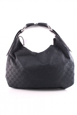Gucci Henkeltasche schwarz Allover-Druck Business-Look