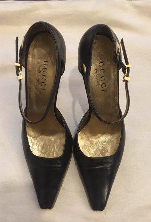 Gucci Strapped pumps black-gold-colored