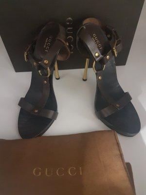 Gucci Hoge hakken sandalen veelkleurig Leer