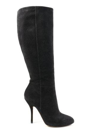 Gucci Laarzen met hoge hakken zwart zakelijke stijl