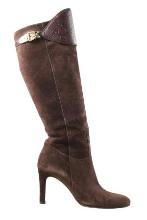 Gucci Laarzen met hoge hakken bruin klassieke stijl