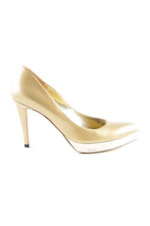 Gucci High Heels goldfarben Elegant