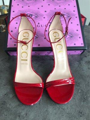 Gucci Sandaletto con tacco alto rosso