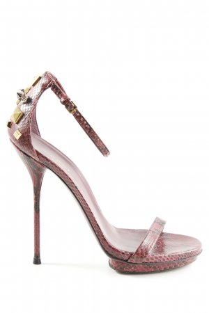 Gucci High Heels rot-schwarz Animalmuster Elegant